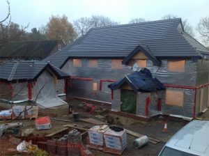 new pitched roof installation