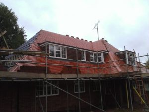 new pitched roof